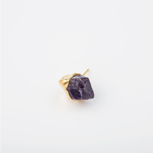 AMETHYST BIRTHDAY STONE EARRING 1P (Feb)