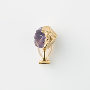 AMETHYST BIRTHDAY STONE EARCLIP 1P (Feb)