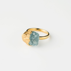 AQUA MARINE BIRTHDAY STONE RING