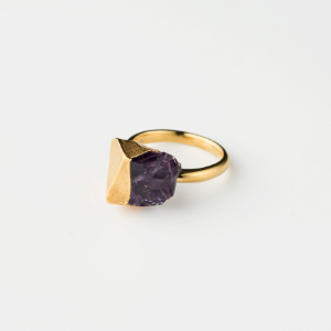 AMETHYST BIRTHDAY STONE RING (Feb)