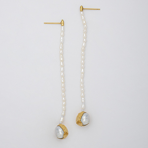 BEADS PEARL EARRINGS