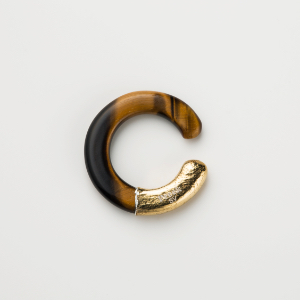 UKISHIMA TIGER EYE EAR CUFF