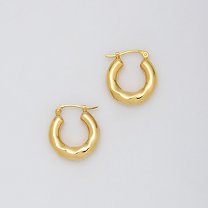 YU-KIN TWIST SMALL HOOP EARRING